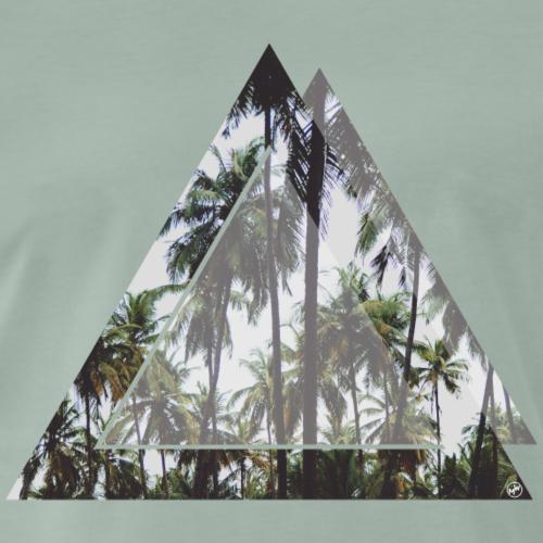 Dreieck Palmen - Männer Premium T-Shirt