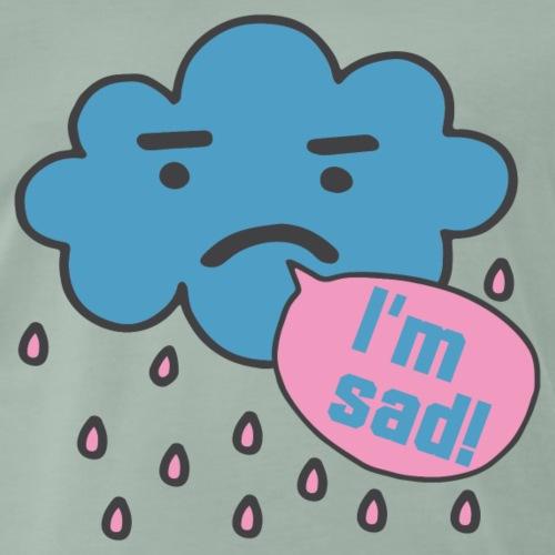 Wolke traurig weinen Regen Sketch Shirts Geschenk - Männer Premium T-Shirt
