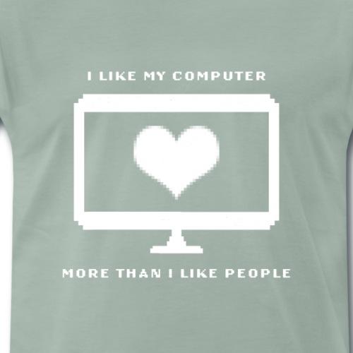 Lustiges Computer Nerd Gamer Fun Geschenk T-Shirt - Männer Premium T-Shirt