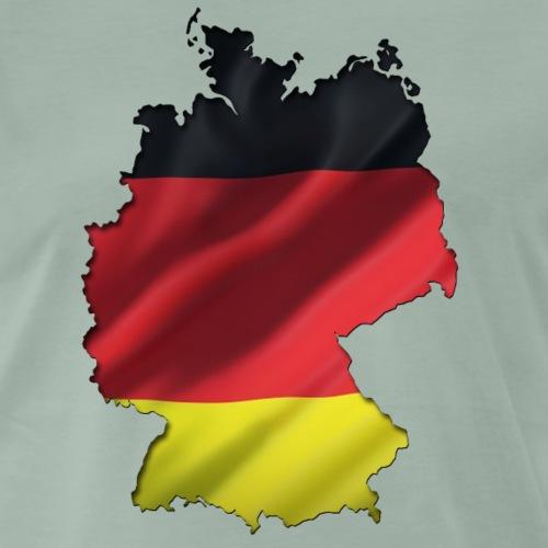 Deutschland Umriss Flagge Wellig - Männer Premium T-Shirt