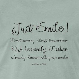 Just Smile! - Premium-T-shirt herr