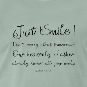 Just Smile! - Premium T-skjorte for menn
