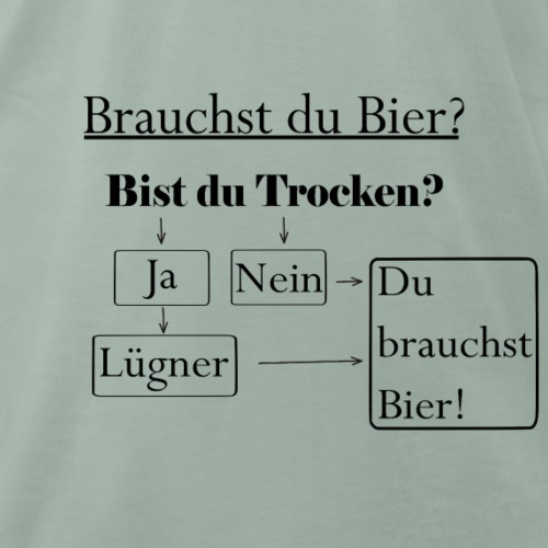 Brauchst du Bier? - Männer Premium T-Shirt