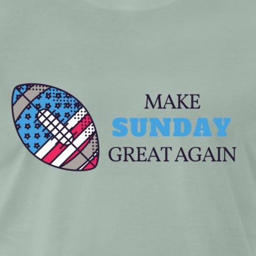 Make Sunday Great Again BLAU - Männer Premium T-Shirt