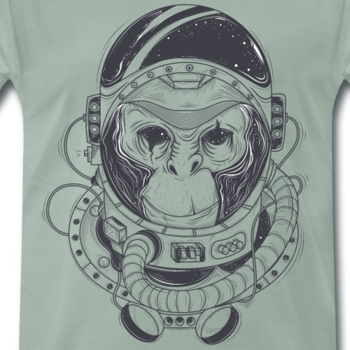 Hand Drawn Monkey Astronaut - Men's Premium T-Shirt