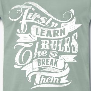 Først Lær Regler - Premium T-skjorte for menn