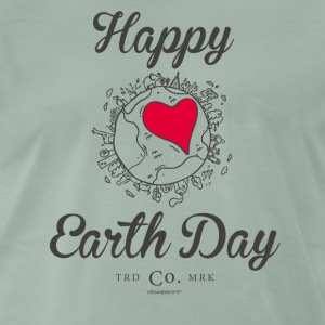 "Glad Earth Day T-shirt ""Heart"" - Herre premium T-shirt"