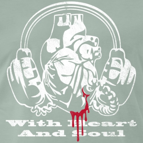 WHAS - With Heart And Soul vintage - Männer Premium T-Shirt