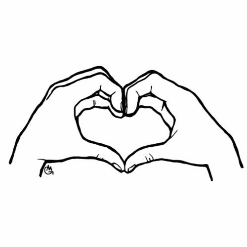 The gesture of love - Maglietta Premium da uomo
