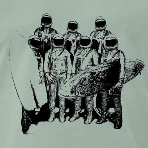 Astronauten Surfer - Männer Premium T-Shirt