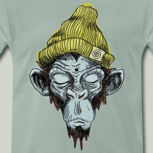 Affe mit Mütze - Männer Premium T-Shirt