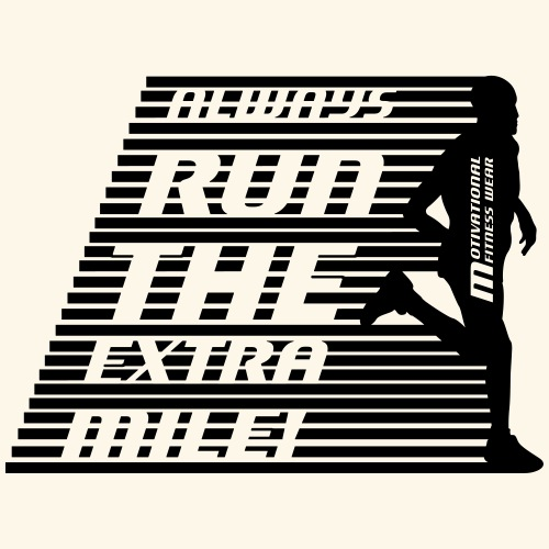 Always run the extra mile! (männlich, speed) - Männer Premium T-Shirt