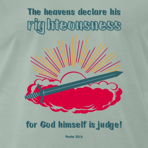 Psalm 50:6 - Mannen Premium T-shirt