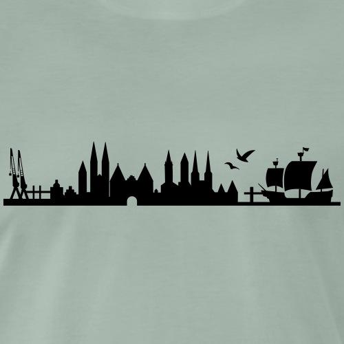 Skyline Lübeck - Männer Premium T-Shirt
