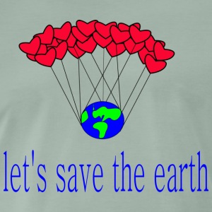 la-s_save_the_earth - Premium T-skjorte for menn