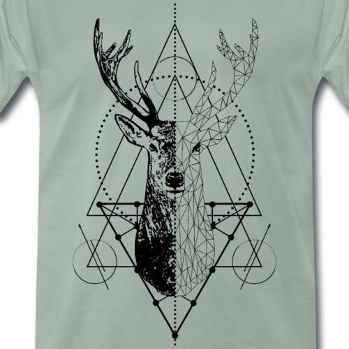 Geometrischer Hirsch - Männer Premium T-Shirt