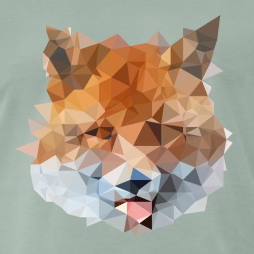 Low Polygon Fuchs - Männer Premium T-Shirt