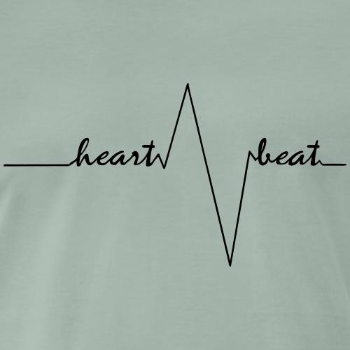 heartbeat noble black - Männer Premium T-Shirt