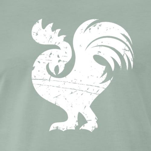 Böser Hahn in weiß - Männer Premium T-Shirt