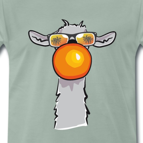 Chewing Llama - Männer Premium T-Shirt