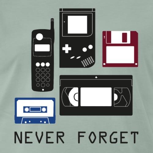 Never Forget Nerd Shirt - Männer Premium T-Shirt