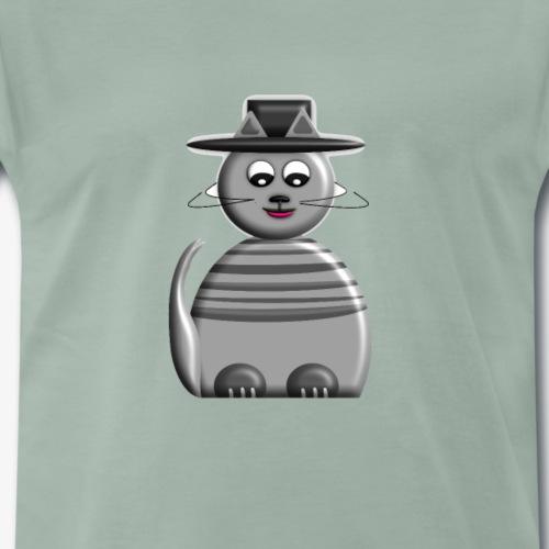 Cat with hat - Männer Premium T-Shirt