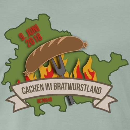 Cachen im Bratwurstland: Edition oliv - Männer Premium T-Shirt