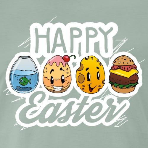 Happy Easter - Osterei Design - Männer Premium T-Shirt