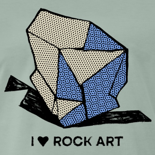 I LOVE ROCK ART No 1 colour - Mannen Premium T-shirt