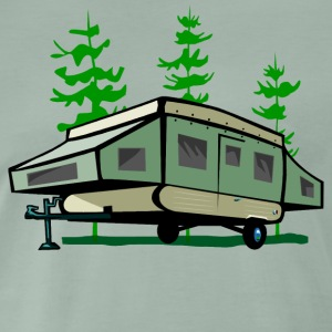 Camping Pop Up Trailer - Men's Premium T-Shirt