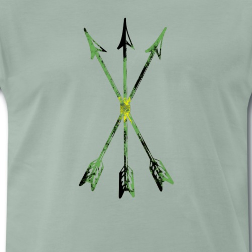 Scoia tael Emblem gruenschwarzgelb - Männer Premium T-Shirt
