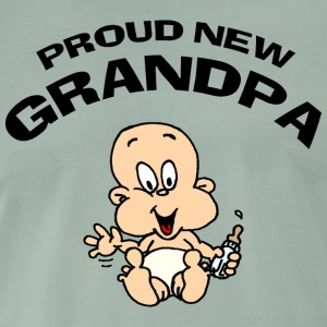 Proud New Grandpa CUSTOMIZE ADD DATE YEAR - Men's Premium T-Shirt