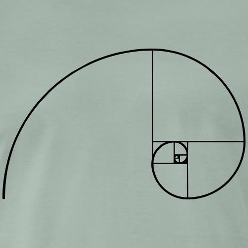 Fibonacci Spirale Mathe Geometrie Zeichen Formen - Männer Premium T-Shirt