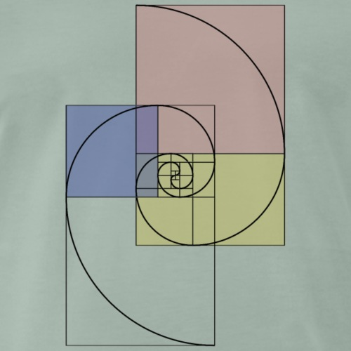Spirale d'or - T-shirt Premium Homme