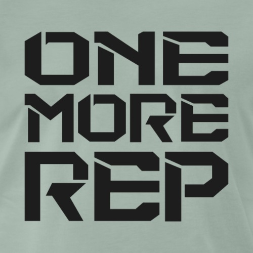 One More Rep - Fitness Motivation Gewichtheber - Männer Premium T-Shirt