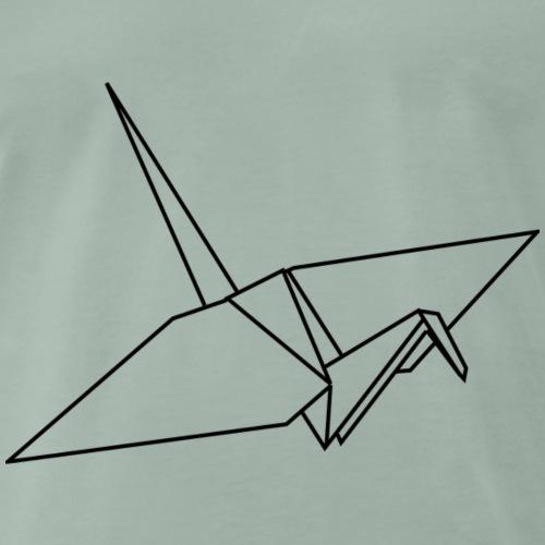 Kranich Origami - Männer Premium T-Shirt