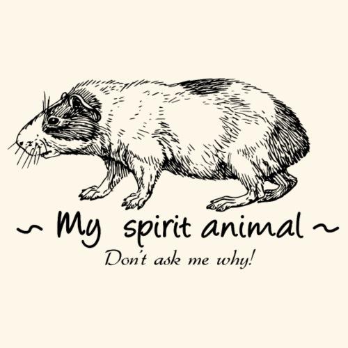 Le cochon d'Inde est mon animal totem. - T-shirt Premium Homme
