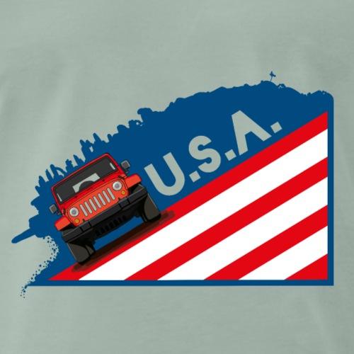 Die Geländewagen Ikone als coole USA Grafik - Männer Premium T-Shirt