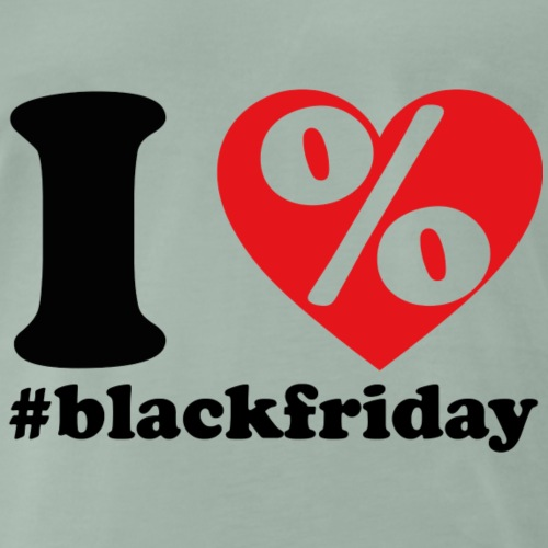 I LOVE BLACKFRIDAY - Koszulka męska Premium