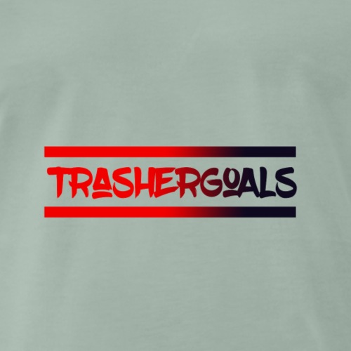 trashergoals lgo red-black - Mannen Premium T-shirt