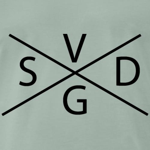 Stefanie van der Gragt - Zwart - Mannen Premium T-shirt