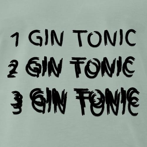 1 2 3 Gin Tonic Schrift betrunken - Männer Premium T-Shirt