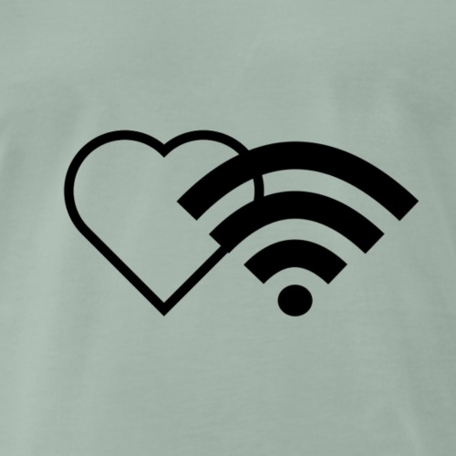 WiFi Liebe / Wireless Heart / I love to be online - Männer Premium T-Shirt