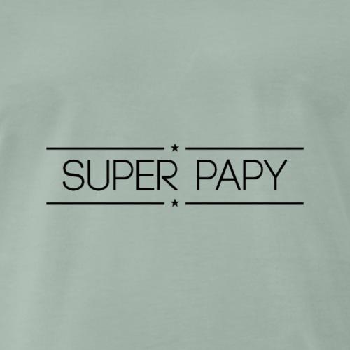 Logo Super Papy Noir - T-shirt Premium Homme