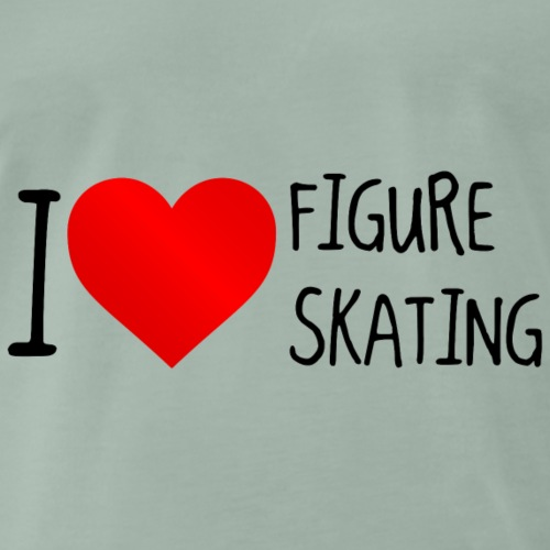 I Love Figure Skating - Männer Premium T-Shirt