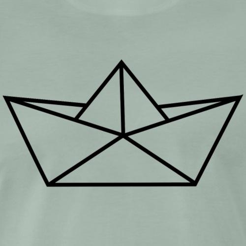 schifforigami_schwarz - Männer Premium T-Shirt