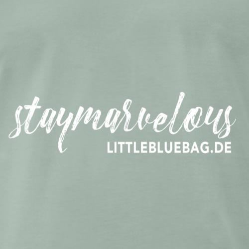 4 staymarvelous weiss - Männer Premium T-Shirt