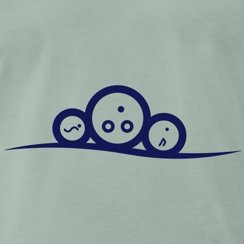 Tricurve and circles - Premium T-skjorte for menn