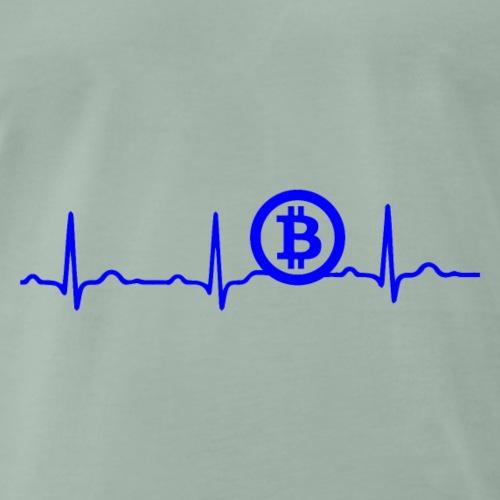 EKG HERZSCHLAG BITCOIN BTC - Kryptowährung Blue - Männer Premium T-Shirt