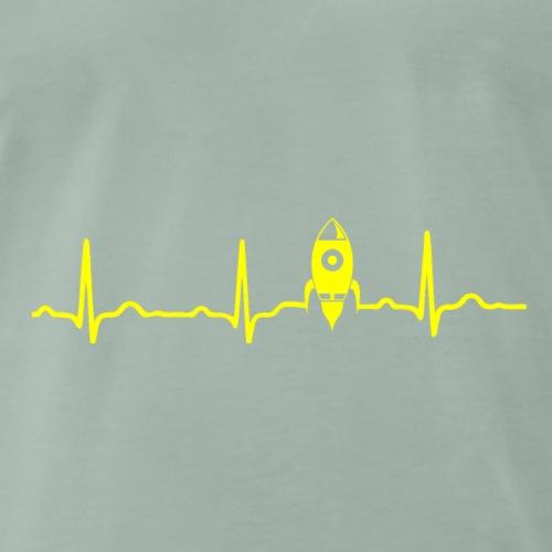 EKG HERZSCHLAG MOND MOON - Kryptowährung yellow - Männer Premium T-Shirt